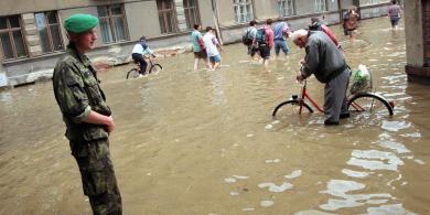 Povodeň v Olomouci. Foto: Jiří Kopáč