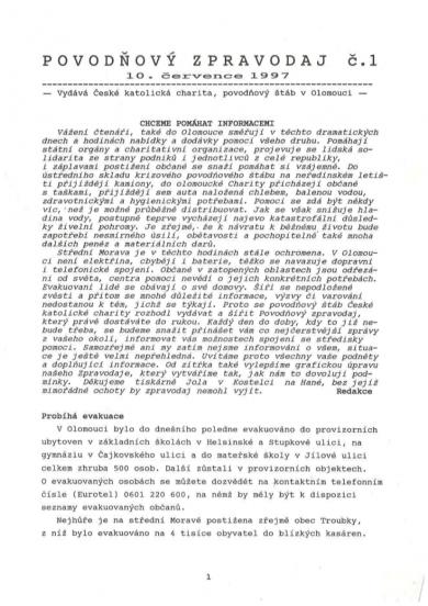 Povodňový zpravodaj č.1